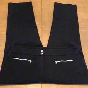ALFANI Black Stretch Dress Pants Slacks 16P